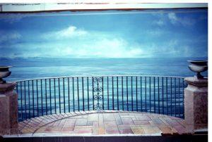trompe terrazza con vista mare